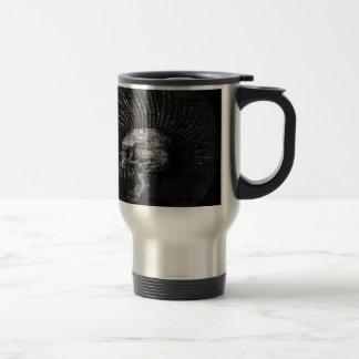Skull Mohawk 15 Oz Stainless Steel Travel Mug