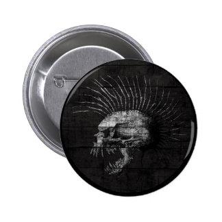 Skull Mohawk Pinback Button