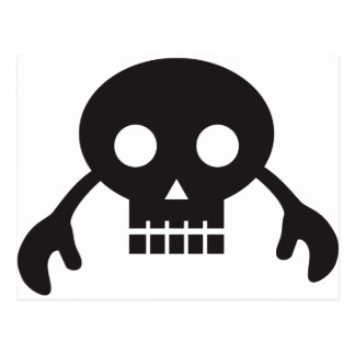 skull monster postcard