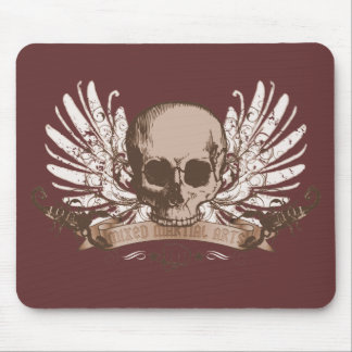 Skull montage - bronze mouse pad