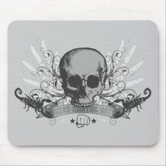 Skull montage - gray mousepads