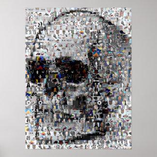 Skull Montage Mosaic Poster