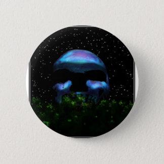 Skull Moon Pinback Button