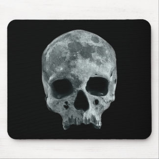 Skull moonscape mouse pad