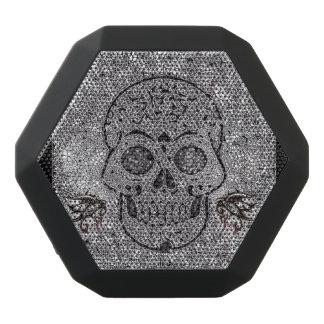 Skull, mosaic black boombot rex bluetooth speaker