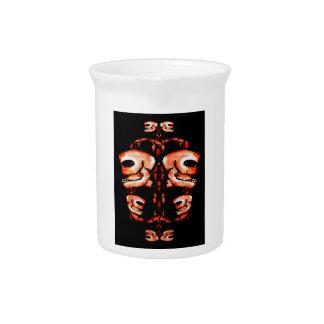 Skull Motif Ornament Beverage Pitchers