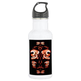 Skull Motif Ornament Water Bottle