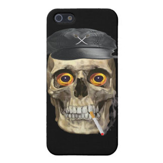 Skull motorcycle rider iPhone SE/5/5s cover