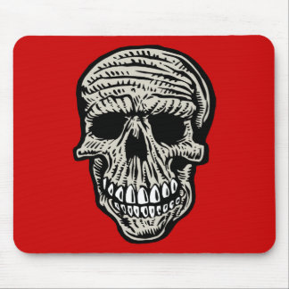 skull mouse pads