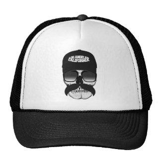 Skull mustache California Trucker Hat