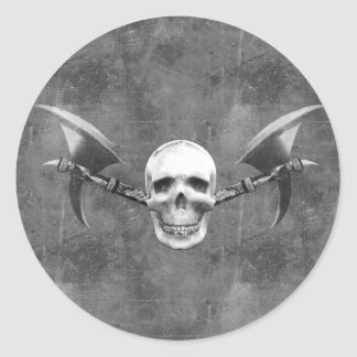 Skull N Axes Sticker