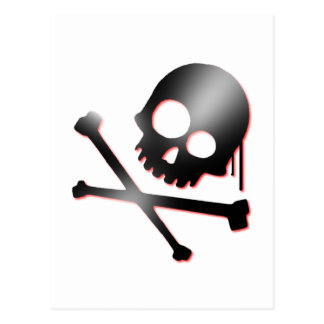 skull n bones 2 postcard