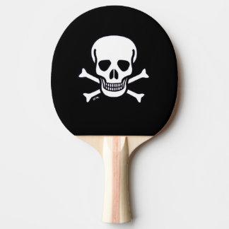 Skull n Bones Black ping pong paddle