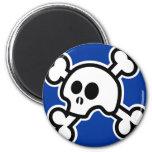 Skull 'N Bones (Blue) Magnet