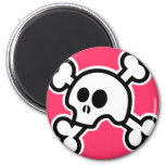 Skull 'N Bones (Pink) Magnet
