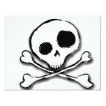 Skull N Bones Plain Personalized Invitations