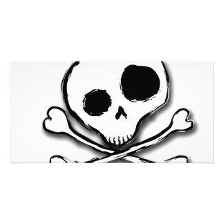 Skull N Bones Plain Customized Photo Card