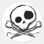 Skull N Bones Plain Stickers