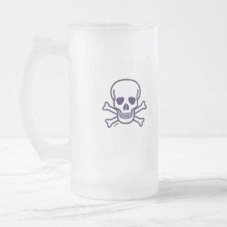 Skull n Bones right-hand frosted beer mug