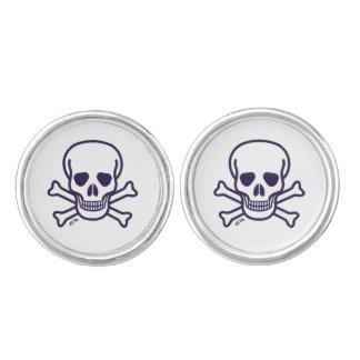 Skull n Bones round cufflinks