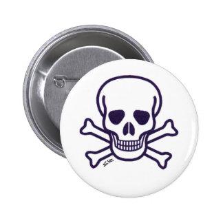 Skull n Bones white button
