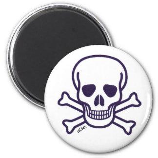 Skull n Bones white magnet
