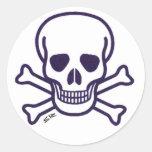 Skull n Bones white sticker