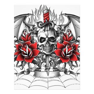 Skull n Dagger with Devil wings Letterhead