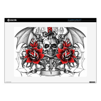 """Skull n Dagger with Devil wings Skin For 15"""" Laptop"""