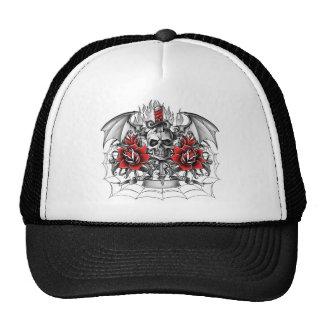Skull n Dagger with Devil wings Trucker Hat