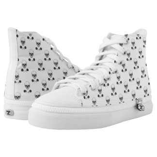 Skull N' Roses High-Top Sneakers