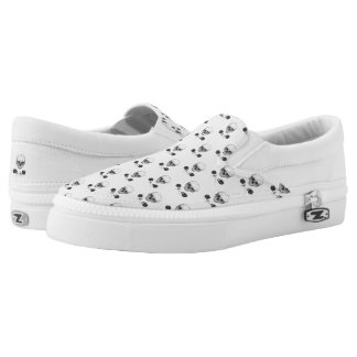 Skull N' Roses Slip-On Sneakers