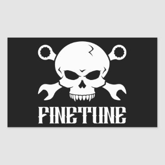 Skull 'n' Tools 2 - Finetune (white) Rectangular Stickers