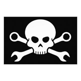 Skull 'n' Tools - Screw Pirate 1 (white) Stationery