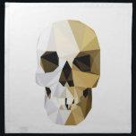"""skull napkin<br><div class=""""desc"""">Geometric human skull</div>"""