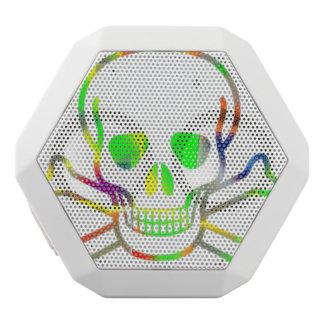 Skull,neon White Boombot Rex Bluetooth Speaker