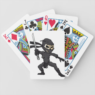 skull ninja cartoon. bicycle playing cards