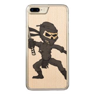 skull ninja cartoon. carved iPhone 7 plus case