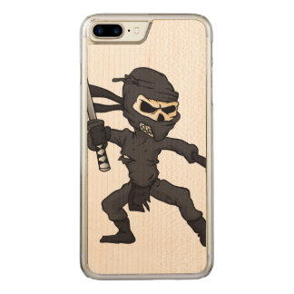 skull ninja cartoon. carved iPhone 8 plus/7 plus case