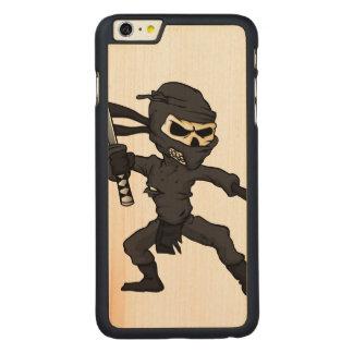 skull ninja cartoon. carved® maple iPhone 6 plus case