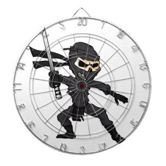 skull ninja cartoon. dart boards