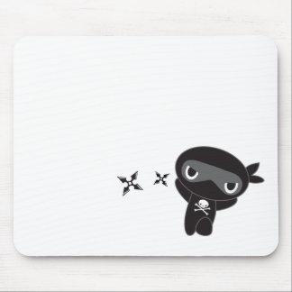 Skull Ninja - Ninja with Stars Mouse Pad