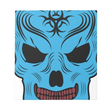 Halloween Themed Skull Notepad