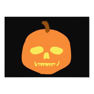 "Skull-O-Lantern Invite 5"" X 7"" Invitation Card"