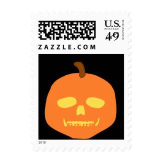 Skull-O-Lantern Postage Stamp