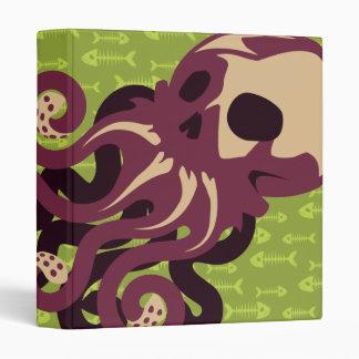 Skull Octopus 3 Ring Binder
