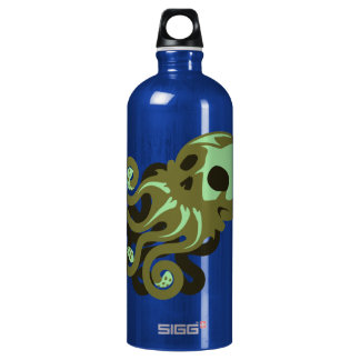 Skull Octopus Aluminum Water Bottle