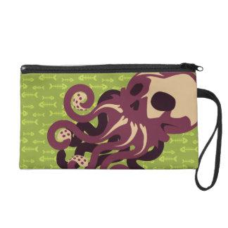 Skull Octopus Wristlet Purses