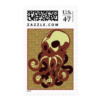 Skull Octopus Postage