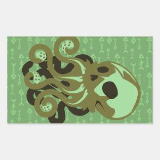 Skull Octopus Rectangular Sticker